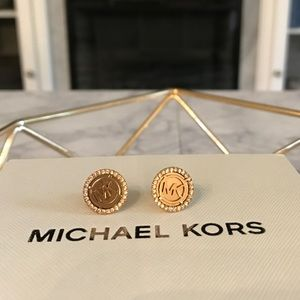 9986aedcc99c0 Authentic MK Stud Earrings in Rose Gold